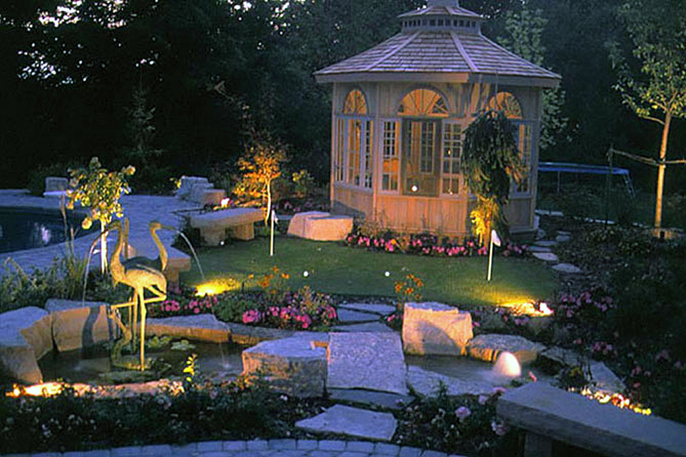 gazebo feature landscaping