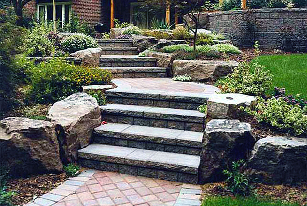 Landscape With Rocks Steps And Stones Ideas