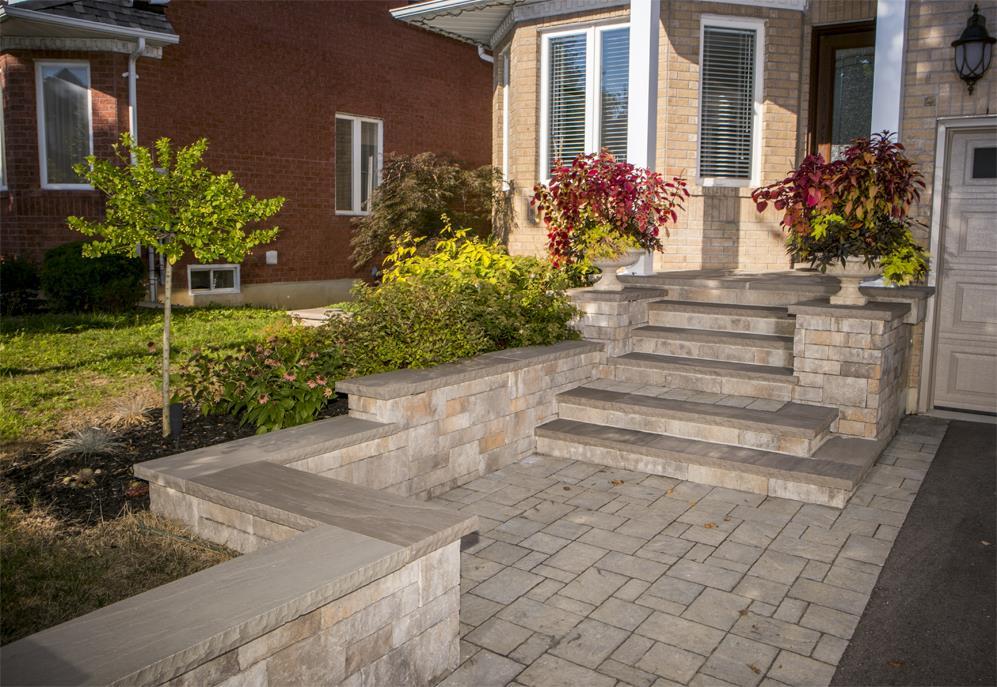 Hogan Landscaping Front Entrance Steps