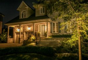 Curb Appeal Night Time House Luxury Home