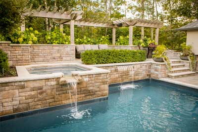 Spa and pool landscaping
